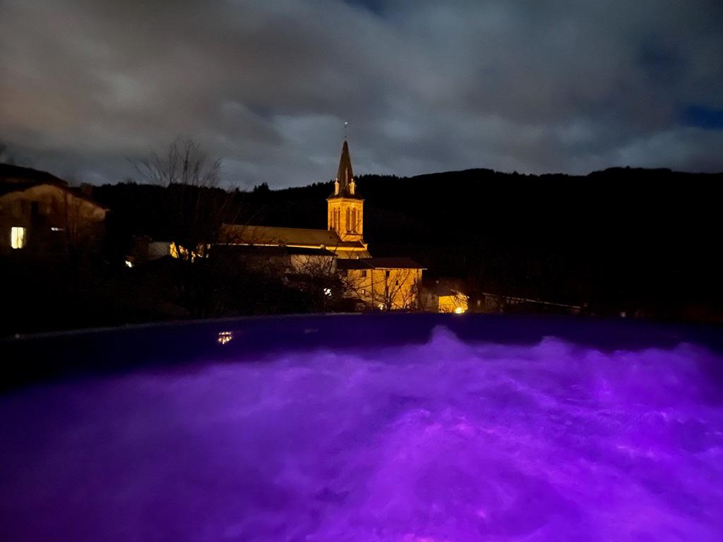 Bain nordique led violet